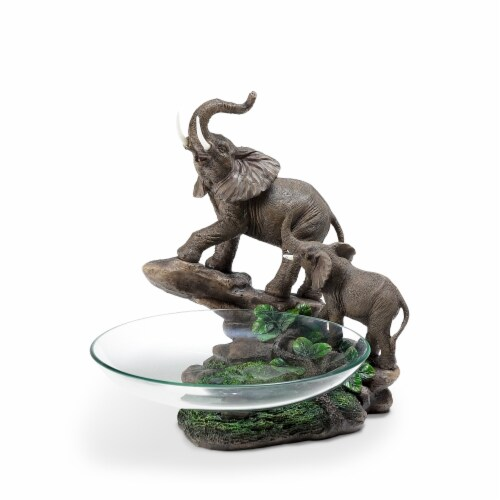 ORE International K-27101 10.5 in. Elephant Candy Dish Perspective: front