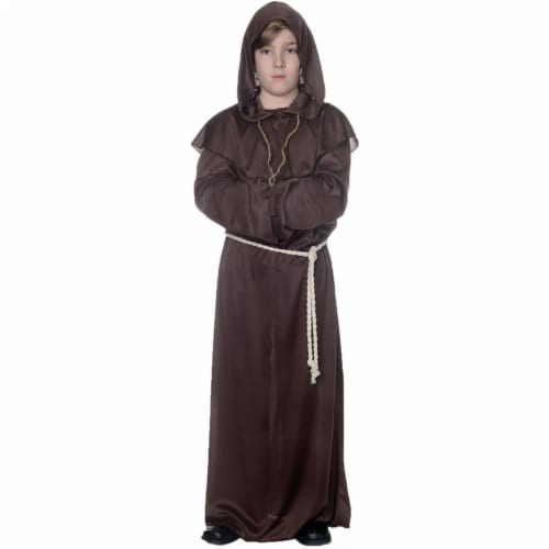 Underwraps UR25876MD Child Monk Robe Costume, Brown - Medium - Size 6-8 Perspective: front