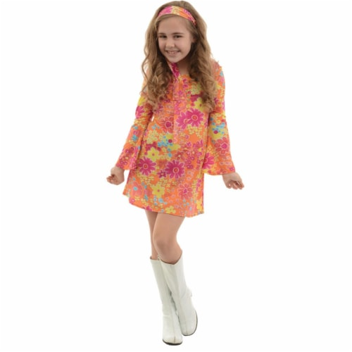 Underwraps UR26224LG Girls Flower Costume - Large - Size 10-12 Perspective: front