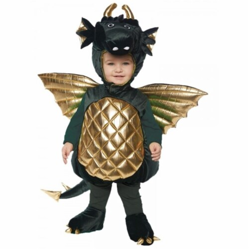 The Costume King UR25702LG Toddler Dragon Costume, Green - Large - 2 to 4 Month Perspective: front