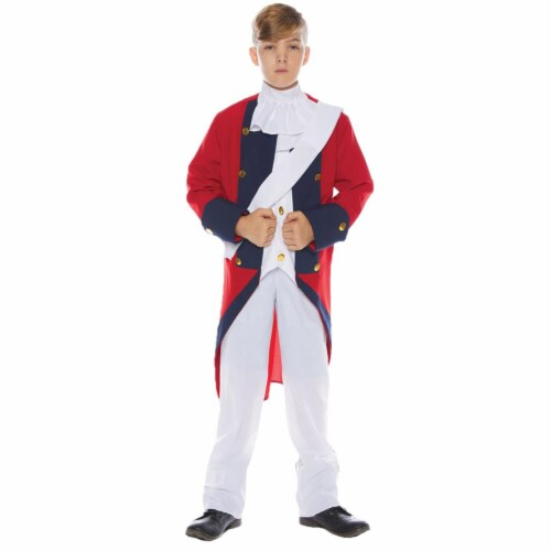 Morris Costumes UR25718LG Redcoat Soldier Child Costume, Large 12-14 Perspective: front