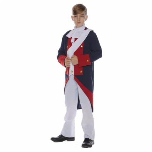 Morris Costumes UR25719MD Revolutionary Soldier Child Costume, Medium 8-10 Perspective: front