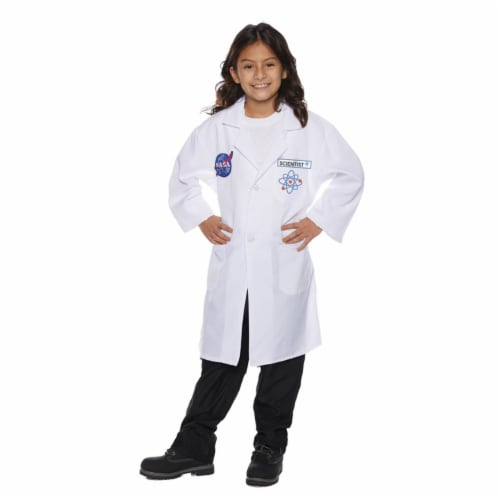 Morris Costumes UR25730SM Childs Rocket Scientist Lab Coat, Small 4-6 Perspective: front