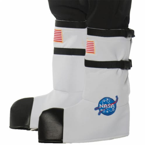 Underwraps UR25738 Kids Astronaut Boot Tops, White - One Size Perspective: front