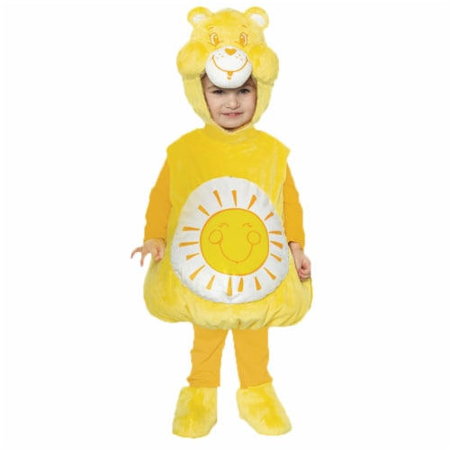 Morris Costumes UR27599LG Care Bears Funshine Toddler Costume, Size 2T-4T Perspective: front