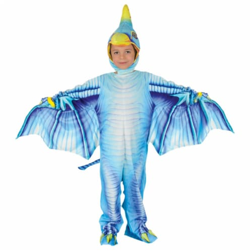Morris Costumes UR27617TXL Pterodactyl Toddler Costume, Blue - Size 4-6 Perspective: front