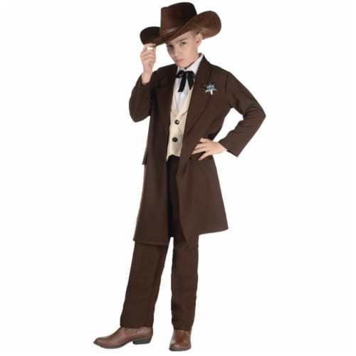 Morris Costumes UR27576MD Old West Sheriff Child Costume, Medium 6-8 Perspective: front