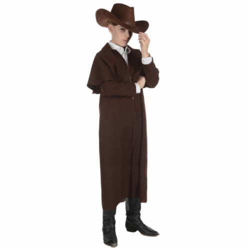 Morris Costumes UR27588MD Wild West Duster Child Coat, Brown - Size 6-8 Perspective: front