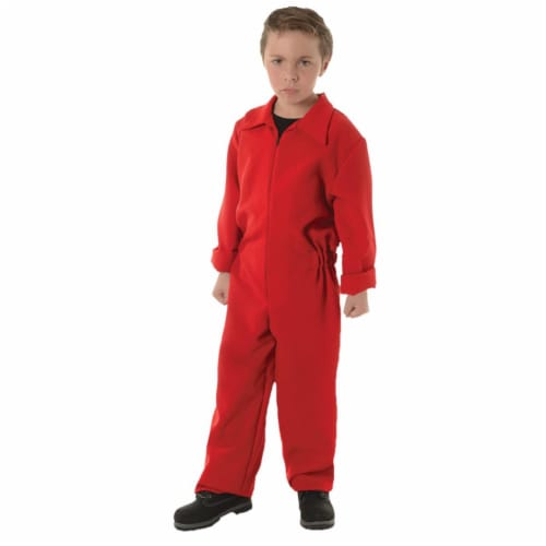 Morris Costumes UR27624RDLG Child Boiler Suit, Red - Large 10-12 Perspective: front