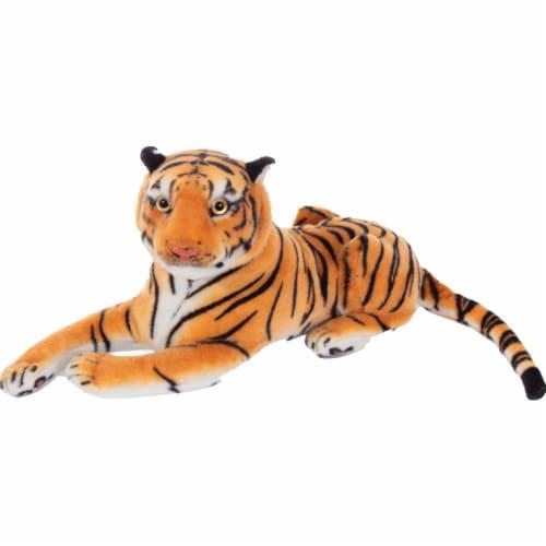 Underwraps URTR40L Tiger Plush, Orange & Black - 16 in. Perspective: front