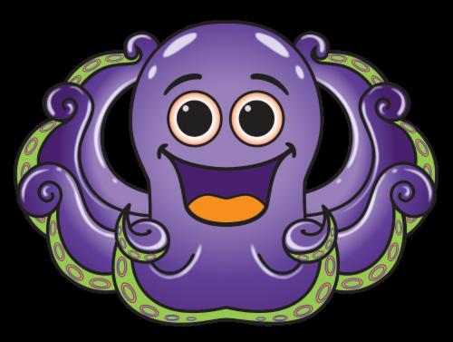 X Kites® MicroKite SeaCreature Kite - Octopus Perspective: front