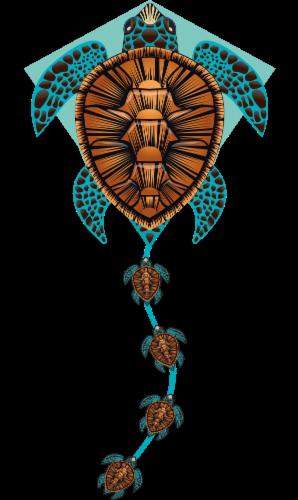 X Kites® Deluxe Diamond Turtle Kite Perspective: front