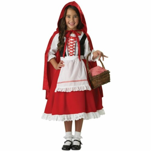 Costumes For All Occasions Ic7013Md Lttle Red Riding Hood Sze 6 Perspective: front