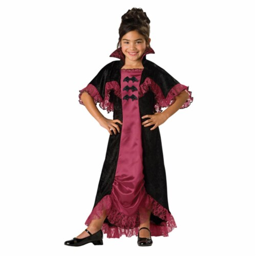 Costumes For All Occasions IC17004C10 Midnight Vampiress 2B Child 10 Perspective: front