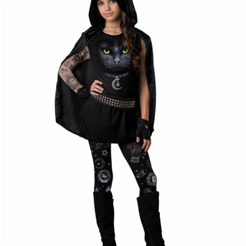 In Character 403534 Girls Covens Rebel Costume - Medium Perspective: front