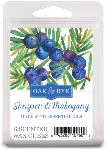 Oak & Rye Sage Juniper and Mahogany Wax Cube Melts - 6 pk - White Perspective: front