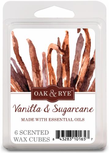 Oak & Rye Vanilla and Sugarcane Wax Cube Melts - 6 pk - White Perspective: front