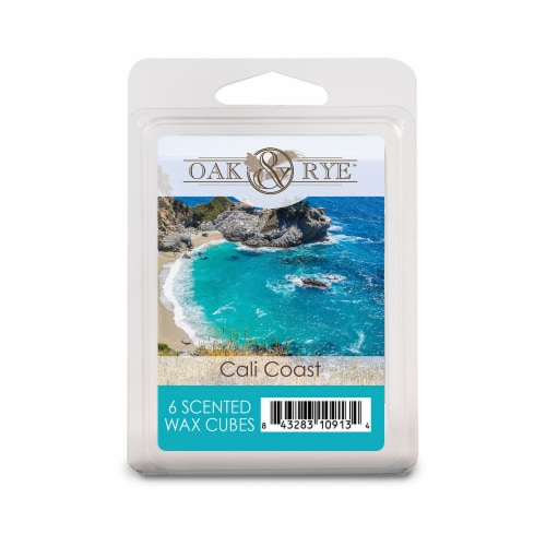 Oak & Rye Cali Coast Scented Wax Cubes - 6 pk Perspective: front