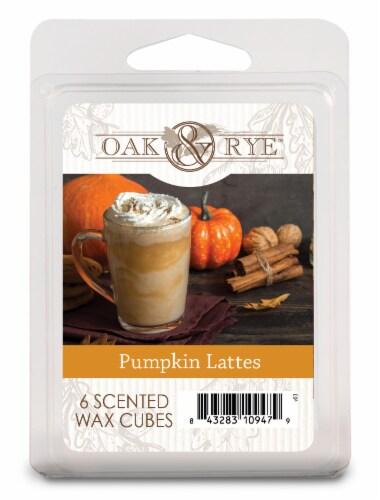 Oak & Rye™ Pumpkin Lattes Scented Wax Cubes Perspective: front