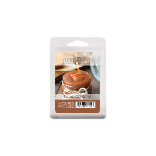 Oak & Rye Sweet Caramel Scented Wax Cubes - Beige Perspective: front