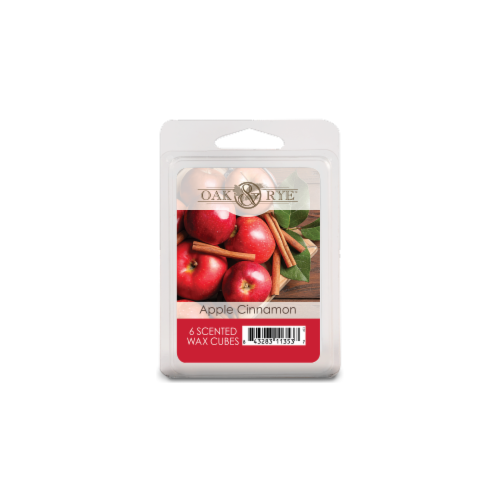 Oak & Rye Apple Cinnamon Scented Wax Cubes - Red Perspective: front