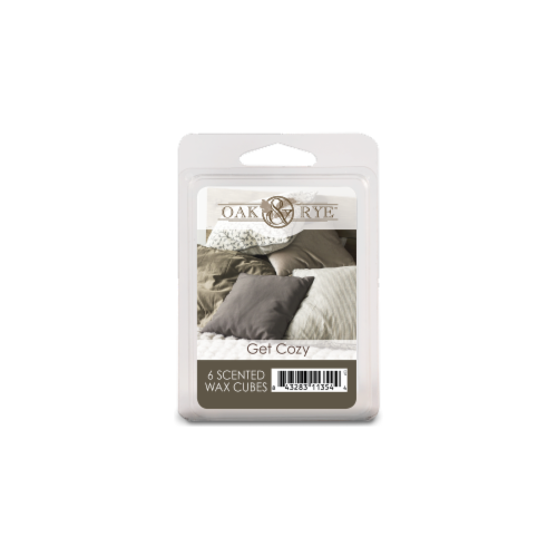 Oak & Rye Get Cozy Scented Wax Cubes - Gray Perspective: front