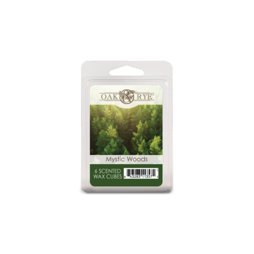 Oak & Rye Mystic Woods Scented Wax Cubes - Green Perspective: front