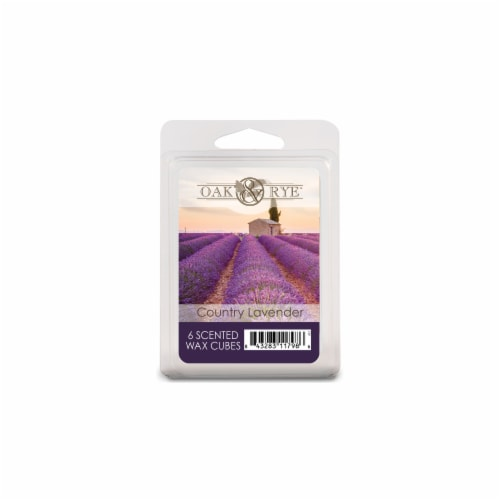 Oak & Rye Country Lavender Scented Wax Cubes Perspective: front