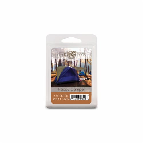 Oak & Rye Happy Camper Scented Wax Cubes Perspective: front