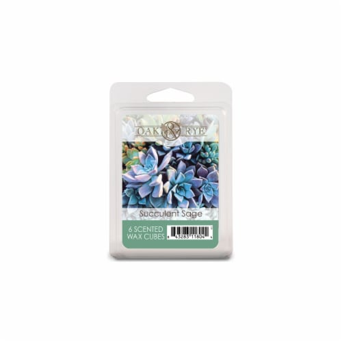 Oak & Rye Succulent Sage Scented Wax Cubes Perspective: front