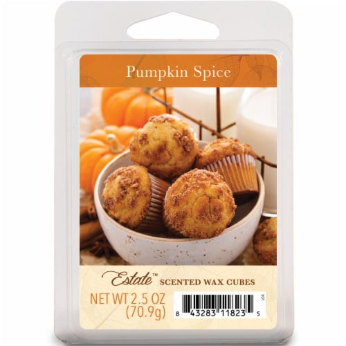 Oak & Rye Pumpkin Spice Scented Wax Cubes Perspective: front