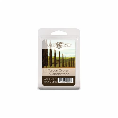 Oak & Rye Tuscan Cypress & Sandalwood Scented Wax Cubes Perspective: front