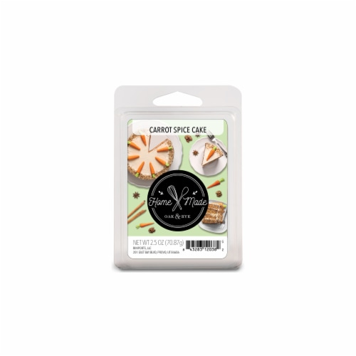 Oak & Rye Homemade Carrot Spice Cake Scented Wax Cubes Perspective: front