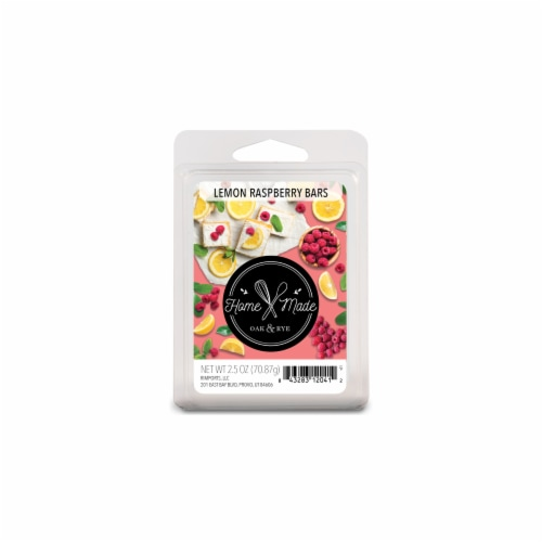 Oak & Rye Homemade Lemon Raspberry Bars Scented Wax Cubes Perspective: front
