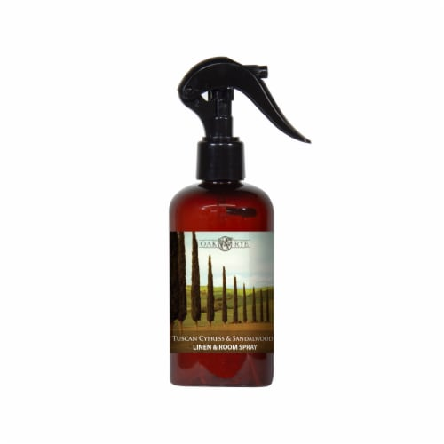 Oak & Rye Tuscan Cypress and Sandalwood Linen and Room Spray Perspective: front