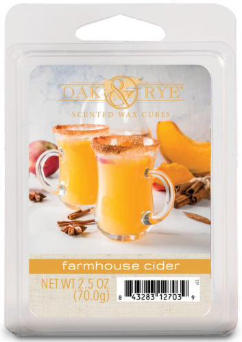 Oak & Rye Farmhouse Cider Wax Cube Perspective: front