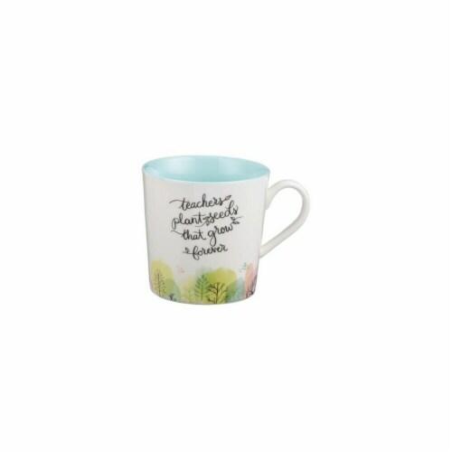 Christian Art Gifts Teacher & Seeds Mug Perspective: front