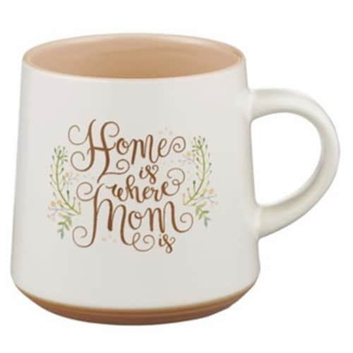 Christian Art Gifts Home is Where Mom is Mug Perspective: front