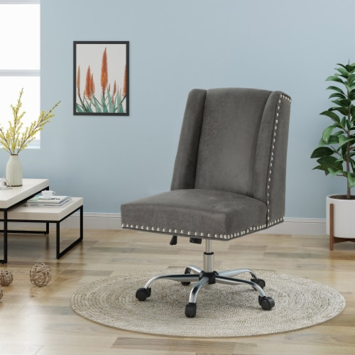Quentin Home Office Microfiber Desk Chair Perspective: front