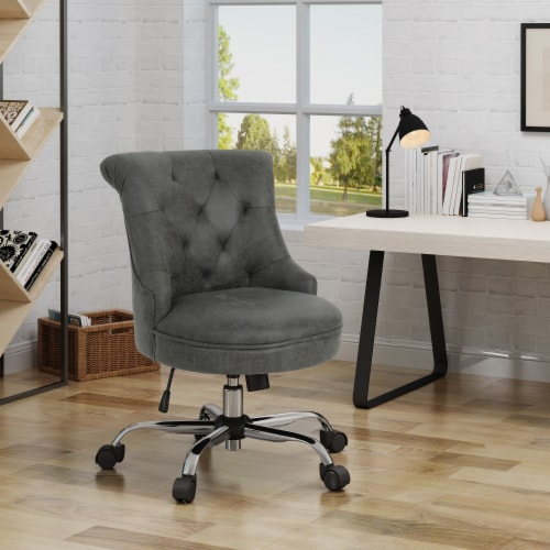 Tyesha Home Office Microfiber Desk Chair Perspective: front