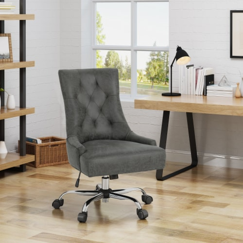 Bagnold Home Office Microfiber Desk Chair Perspective: front