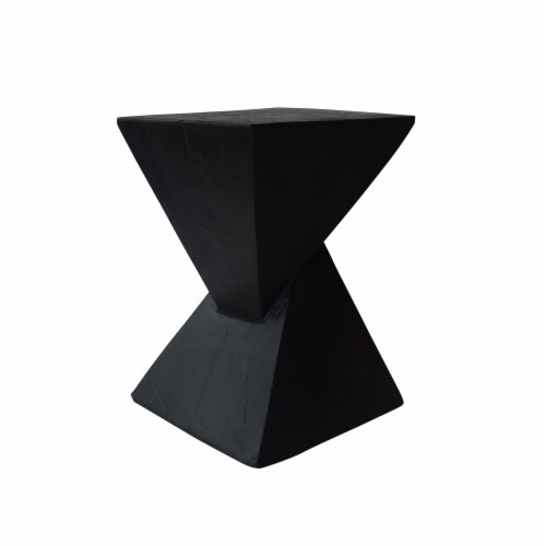 Kajsa Outdoor Light-Weight Concrete Accent  Table Perspective: front