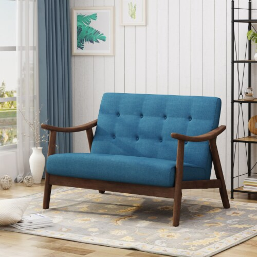 Buda Mid-Century Modern Settee Perspective: front