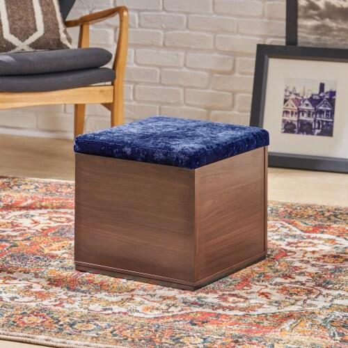 Norris Storage Cube Organizer Ottoman Perspective: front