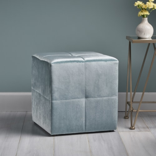 Carina Conteporary Fabric Ottoman Perspective: front