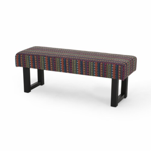 Cassie Boho Fabric Bench Perspective: front