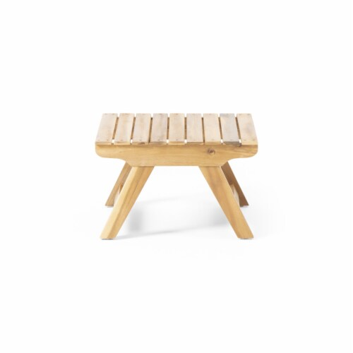 Kailee Outdoor Wooden Side Table Perspective: front