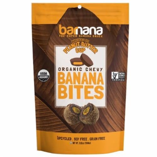 Barnana Organic Peanut Butter Cup Banana Bites, 3.5 Ounce -- 12 per case. Perspective: front
