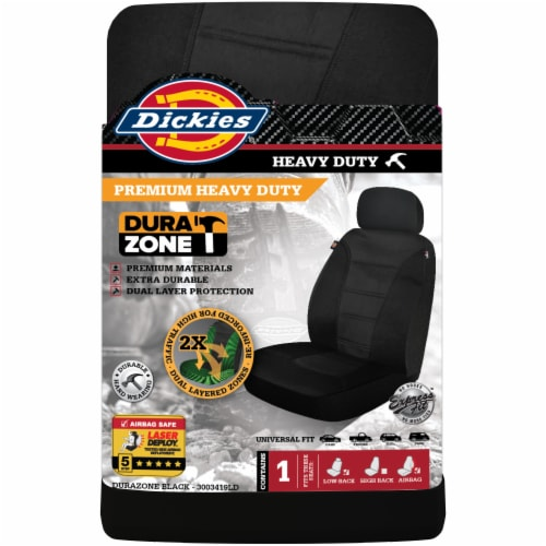 Dickies Heavy Duty Dual Protect Seat Cover - Black Perspective: front