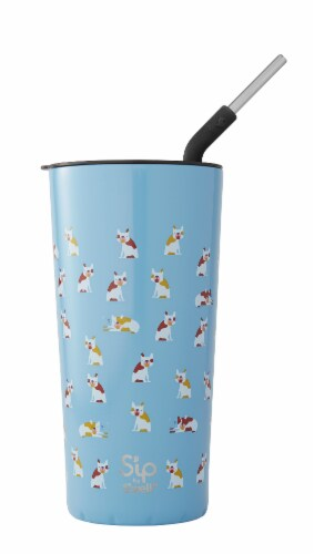 S'ip by S'well Frenchies Forever Stainless Steel Takeaway Tumbler Perspective: front
